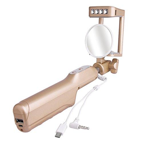 Bastoni Selfie Stick, Sunvito 3 in 1 estensibile Selfie Stick incorporata 3200mAh banca di potere (Metri Stick)