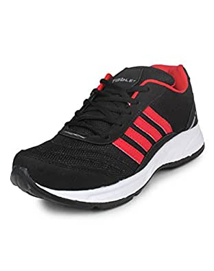 Columbus TB-15 Mesh Sports shoes for Men (UK 10, BlackRed)