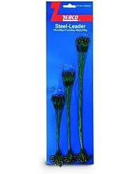 Zebco Steel-Leader Bas de ligne en acier Vert 3 longueurs différentes