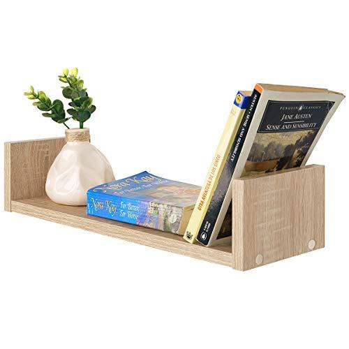 COMIFORT - Estantes Pared Juego de 3 Estanterías Librería Moderna En Colores Blanca, Wengue, Roble, Nordic (Roble)