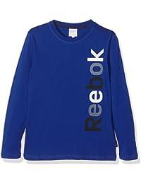 Reebok 645 L/S T Shirt - Camiseta de manga larga para niño, multicolor, talla 6A (5-6 años)