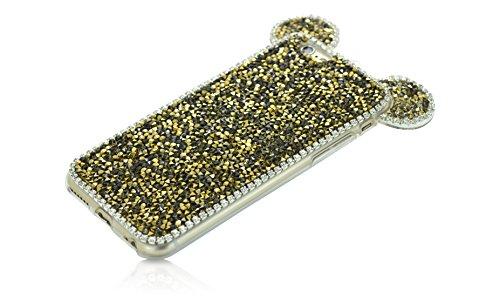 iProtect TPU coque de protection à paillettes pour Apple iPhone 6 Plus Soft Case avec dragonne et oreilles en or Paillettes Or