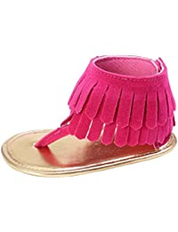 Zapatos de bebé, Switchali Recién nacido bebe niña verano Niños Cuna Suela blanda Antideslizante Sandalias Zapatillas niñas vestir floral borla casual moda Calzado