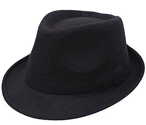 ASTRQLE Klassischen Stil Herbst Gap Breite Krempe Fedora Hut, Trilby Hüte für Mann, Herren, Pink,Orange,Black,Blue, Small (Fedora-hüte Für Männer Mittleren)