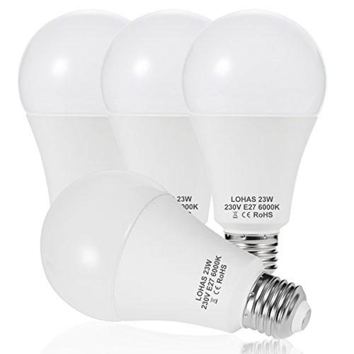23 W (200 W) Bombilla LED E27, LOHAS No-Regulable rosca Edison bombillas...