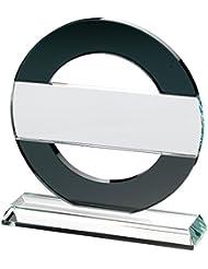 """Circular placa trofeo–""""Northern line"""" círculo negro con transparente tira, 10 pulgadas"""