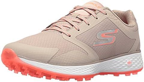 Ladies Skechers Golf 2017 Womens Go Golf Birdie Golf Shoes Lightweight Water Resistant Natural/Coral