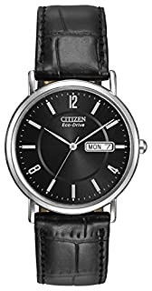 Citizen Men's Eco-Drive Watch with Black Dail Analogue Display and Black Leather Strap BM8240-03E (B000EQS1D8) | Amazon Products