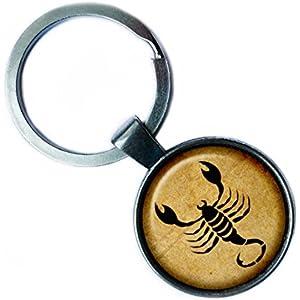 Zodiac Scorpio Tierkreis Skorpion Silver Keychain Silber Schlüsselanhänger
