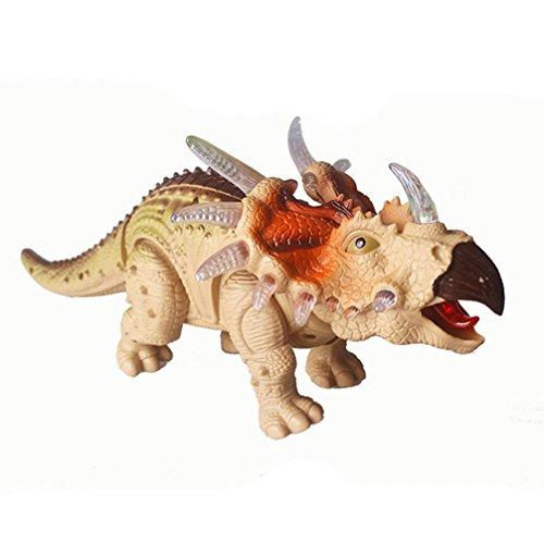 DRESS_start Gehen Triceratops Dinosaurier Spielzeug Mit Dinosaurier Sounds und Farbwechsel Lichter Zufällige Farbe