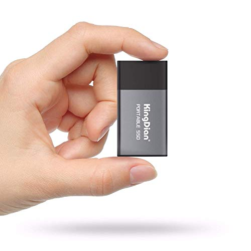 KINGDIAN 500gb Mini SSD External SSD (Upto Read - 372 MB/s Write - 368 MB/s) with Type C to USB 3.0 Type A Cable