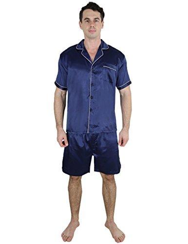 Lounge-Shirt und Shorts, 2-teiliges Set, Dunkelblau - - X-Large ()