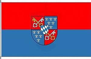 Königsbanner Autoflagge Berchtesgaden - 30 x 45cm - Flagge und Fahne