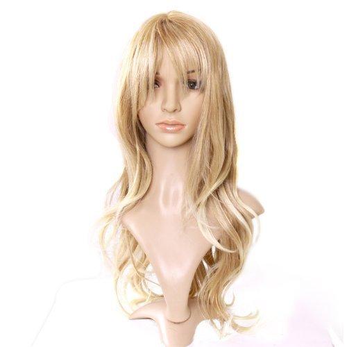 MapofBeauty 50cm/ 20 Pouce Longue Bouclé Femmes Bouclé Perruques (Blond/Léger Blond)
