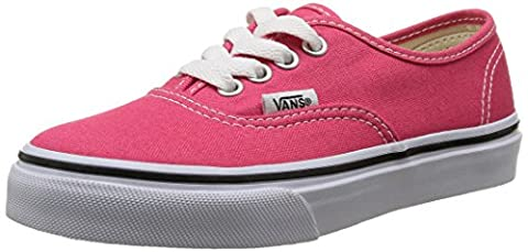 Vans Authentic, Basket mode mixte enfant - Rose (Rouge Red/True White) - 30 EU, 12.5 US
