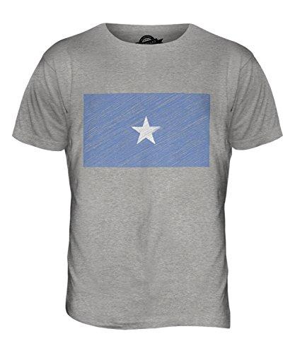 CandyMix Somalia Bandiera Scarabocchio T-Shirt da Uomo Maglietta Marne Grigio