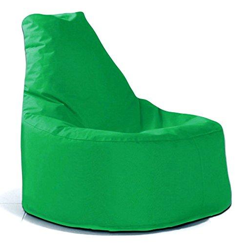 Sitzsack Sessel - für Kinder und Erwachsene - In & Outdoor Sitzsäcke Kissen Sofa Hocker Sitzkissen Bodenkissen mit Styropor Füllung - verschiedene Farben - Bean Bag Sitzsäcke Möbel Kissen (Grün)