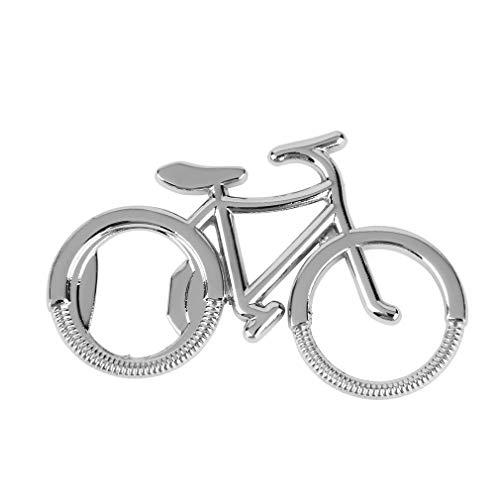DLINMEI Fahrrad Flaschenöffner Zink-Legierung Bier Cap Lifter Cute Schlüsselanhänger Flaschenöffner Geschenk bequem kleine Silber