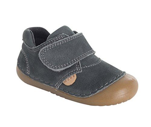 MOVE First Flex Walker Lauflernschuh, Chaussures Marche Bébé Garçon Gris - Grau (Dark grey150)