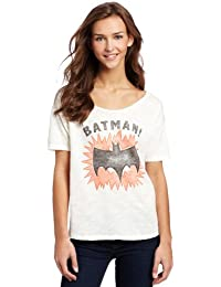 Junk Food Ladies Batman Logo Boyfriend T Shirt White