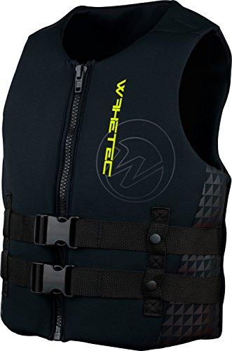 WAKETEC Neoprenweste Mens, 50 N Prallschutz-Schwimmweste, schwarz-lime, Grösse:XL