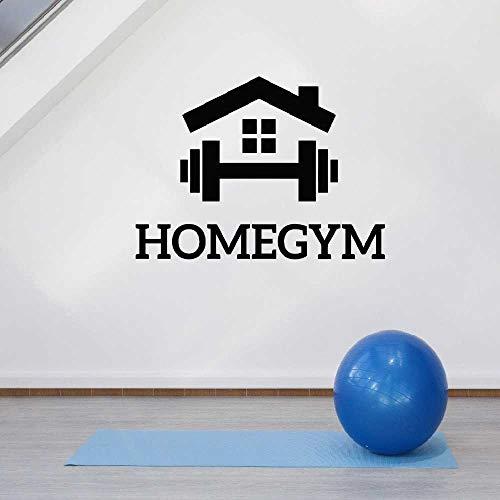 YSNMM Home Gym Wanddekoration Aufkleber Fitness Motivation Sport Room Decor Aufkleber Schlafzimmer Kunst Aufkleber Wandbilder Removable Wallpaper 60X42 cm