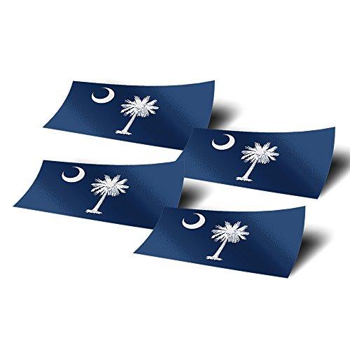 �Stück 10,2cm breit State Flagge Aufkleber Aufkleber für Fenster Laptop Computer Vinyl Auto bumper ()
