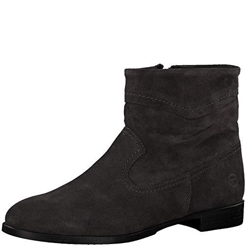 Tamaris Damen Stiefeletten 75005-23, Frauen Ankle Boots, elegant Women's Women Woman Freizeit leger Stiefel halbstiefel,Anthracite,40 EU / 6.5 UK
