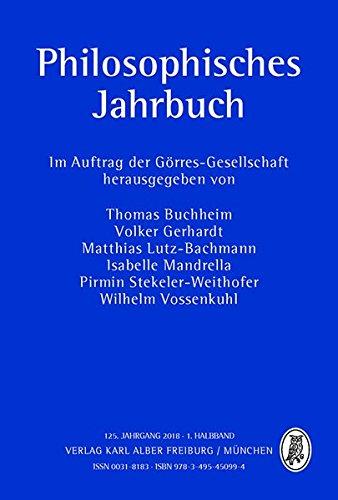 Philosophisches Jahrbuch: 125. Jahrgang 2018-1. Halbband