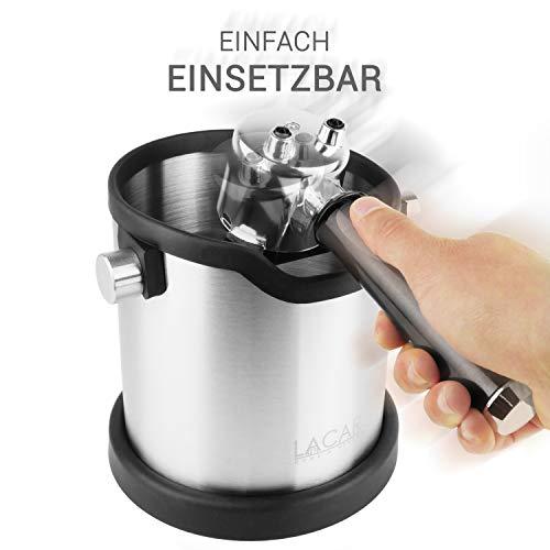 Lacari ® Premium Abschlagbehälter - Perfekt Für Espresso Kaffeemaschine - Hochwertiger Abklopfbehälter Aus Edelstahl - Kaffe Zubehör Für Siebträger - Abschlagbox Für Saubere Entsorgung Von Kaffeesatz - 3