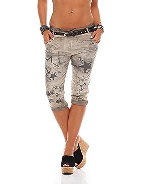 Pantalones Capri para mujer ZARMEXX Pantalones baggy para novio Pantalones vaqueros Pantalones capri estampados...