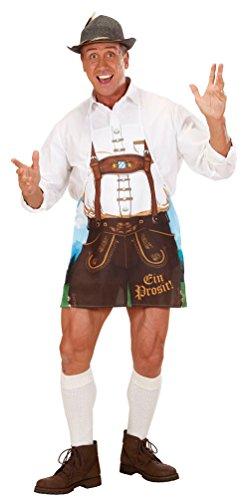Karneval-Klamotten Kostüm Lederhose Trachten-Hose Herren Schürze Bayern Oktoberfest Grillschürze Bayern-Hose Tirole Herrenkostüm - Lederhose Oktoberfest Kostüm