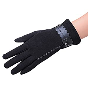 Fashion Women Touch Screen Bowknot Winter Warm Gloves Mittens