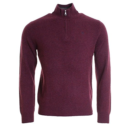 hackett-half-zip-knitted-jumper-xl-red