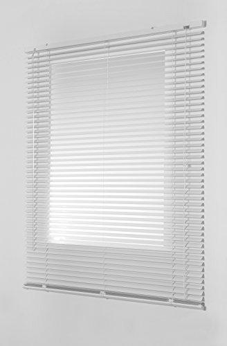 Estores Basic- Persiana Veneciana Aluminio, Blanco, 75x175 cm