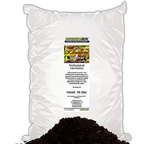 GREEN24 10 Ltr. Karnivoren-Erde Substrat für Fleischfressende Pflanzen - Profi Linie Nepenthes, Drosera, Dionaea Substrat Carnivoren