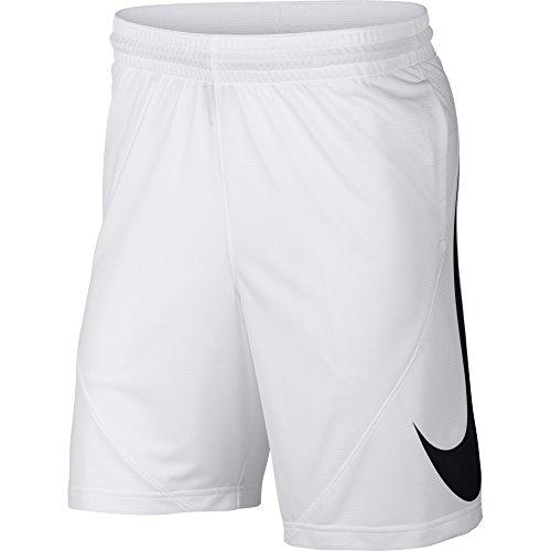 Nike m nk short hbr, pantaloncini sportivi uomo, bianco white/black 100, 52 (taglia produttore:l)