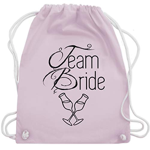 JGA Junggesellinnenabschied - Team Bride Sektgläser - Unisize - Pastell Rosa - WM110 - Turnbeutel & Gym Bag