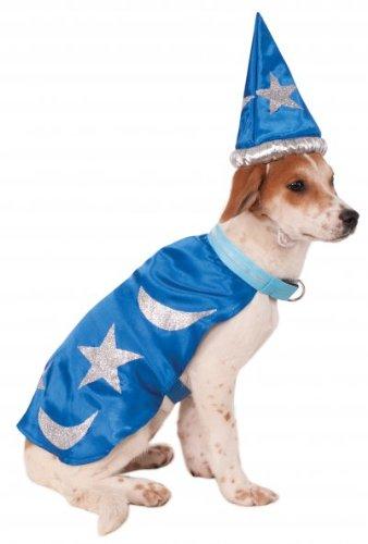 Kostüm Hunde Hobbit Für - Rubie 's Wizard Umhang mit Kopfbedeckung und Tricks Halsband Pet Kostüm