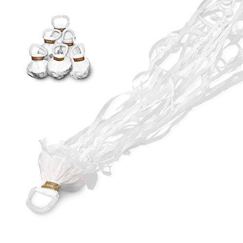Goodtimes Party Wurf Luftschlangen Weiß 12 Stück für Geburtstag, Hochzeit, Party - einfache Entsorgung