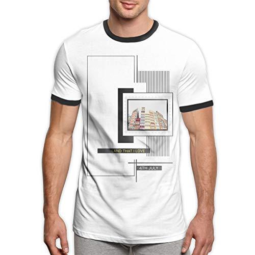 Jahrgang 4. Juli USA Land, DASS ich Männer Ringer T-Shirt 4. Juli T-Shirt Herren 4. Juli Aktivitäten Herrenbekleidung schwarz L