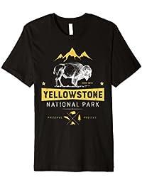 Yellowstone National Park Bison Buffalo T-Shirt–Vintage