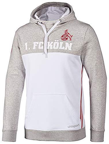 Und 1 Pullover (uhlsport 1.FC Köln Sportswear Hoodie Herren weiß/grau, Bekleidungsgröße:M)