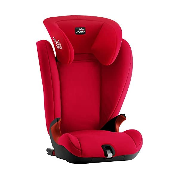 Britax Römer KIDFIX SL Black Series Group 2-3 (15-36kg) Car Seat - Fire Red Britax Römer High back booster protection Easy adjustable, ergonomic headrest Adjustable v-shaped backrest 5