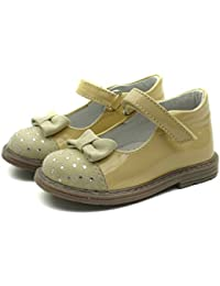 SB156 Studio BIMBI Dolly Shoe w/Bow Smart for Girls in Grey Patent Tamaño 20