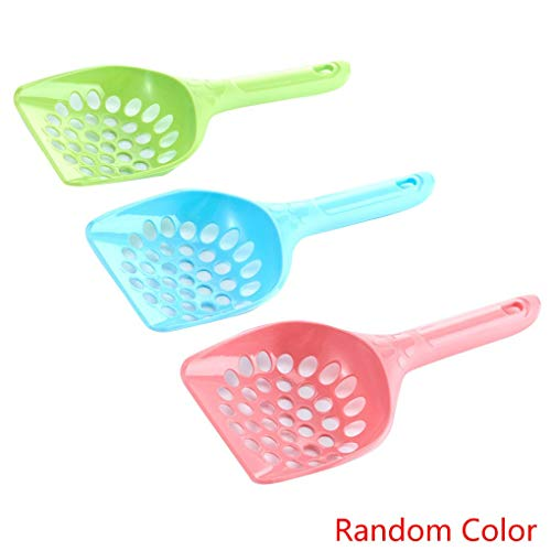 Cdrox 3PCS zufällige Farbe PP Pet Kitten Wurf Sand Schaufel Scoop Größere Größe Reinigung Pick Up Werkzeug Haustier Supplies -