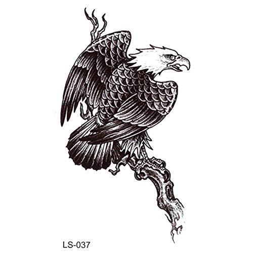 n temporär / Sticker - Adler auf Baum - Wasserfest ()