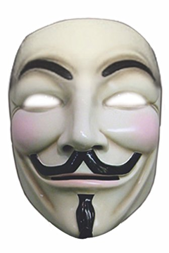V für Vendetta Maske deluxe (Vendetta Kostüm Deluxe)