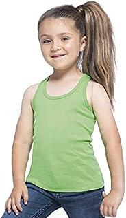 JHK T-SHIRT Camiseta de niña de tirantes y espalda de nadador (Verde) Kid Tuvalu TSLKTVL