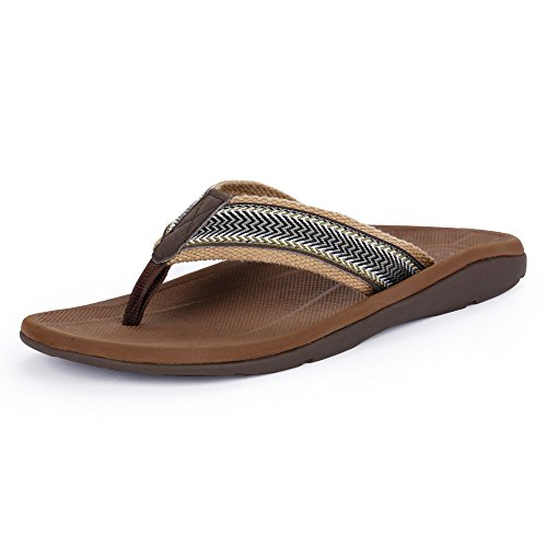 SESSOM&CO Men's Orthotic Sandals with Great Arch Support Stylish Flip Flops Sandals...